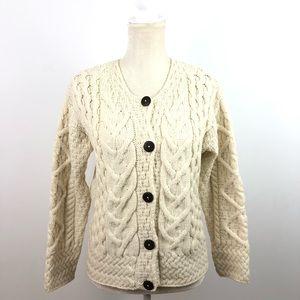 Aran Sweater Market Wool Cable knit Cardigan